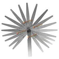20 лезвие инструмента метрический толщиномер набор 0.05мм-1.00мм Точность измерения серебро