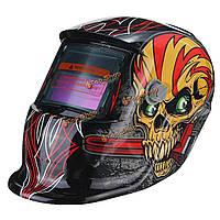 Красный череп солнечного самозатемняющимися шлем ТИГ МИГ сварки маски сварщика объектива