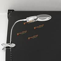 6X стол стол Крепление LED освещенную лупу лампы металлический шланг увеличительное стекло
