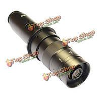 Регулируемая 180x увеличение масштаба 25 мм C-Mount 4.5x объектив адаптер для промышленности микроскопа