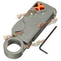RG6/59 двойные лезвия полностью регулируемый для зачистки проводов кабельный резак Инструмент для зачистки