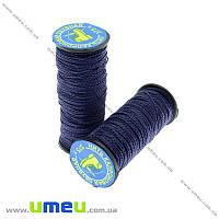 Нить капроновая (обувная) 375 т, Синяя темная, 30 м (MUL-017616)