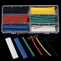 200 ПК галогенов 2 : 1 термоусадочная трубка жильный кабель комплект 6 размеры набор 6 цветов