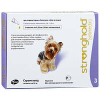 Стронгхолд (Stronghold) для собак 2,5-5 кг, 3 пипетки