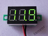 Цифровой вольтметр DC 0 - 30 вольт ,  зелёный.