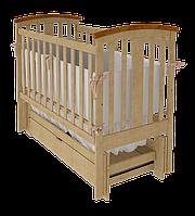 Кроватка Woodman Mia с ящиком, натуральная, УМК