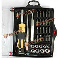 Jakemy JM-6093 33в1 инструменте ремонта компьютера сотового телефона инструмента отвертки multi-fuction отвертка комбинации