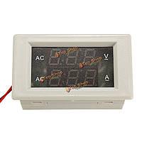 Ac60-300В 100а двойной дисплей ЖК-панель Ампер напряжение метр амперметр трансформатор