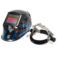 Синий череп солнечный авто потемнение размола шлем дуги ВИГ Полуавтоматическая сварка шлем маски