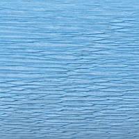 Крепированная  (гофрированная) бумага, Cartotecnica Rossi, 180 г, № 556, голубая
