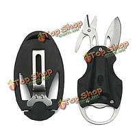 Цикада-стиль Многофункциональный складной инструмент ножницы / нож / LED фонарик / открывалка для бутылок / зажим для денег
