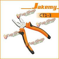 Инструменты аппаратных средств 6 дюймов jakemy jm-ct1-3 нескользкие плоскогубцы комбинации кусачек недостатка параллельной челюсти ручки