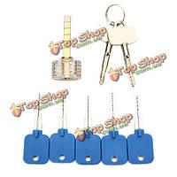 5шт ключи опробование набор с прозрачными крестообразный практика висячий слесарных инструментов