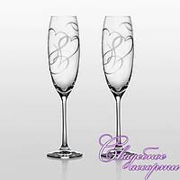 """Свадебные бокалы """"Amour Swarovski"""""""