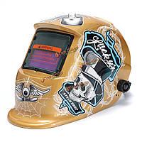 Блестящая золотая солнечная самозатемняющимися размола шлем МИГ дуговой TIG сварки маска объектива