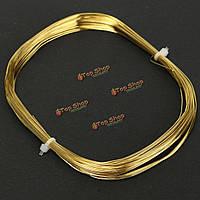 15м х 0.5мм латунь круглой проволоки для поделок ремесло бисером скульптуры ювелирные изделия делая золото