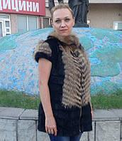 Жилет из меха нутрии и енота 75 см, фото 1