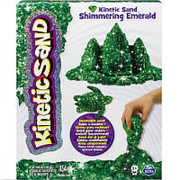 Песок для детского творчества KINETIC SAND METALLIC зеленый, 454 г (71408Em)