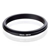 Оборотное, реверсивное кольцо 55-58 мм, фото 1