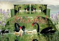 Комплект постельного белья из полиэстра 3д лебеди