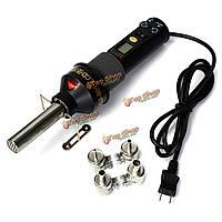 GJ-8018 200Вт 110В электронный ЖК-тепловые пушки фена сварочные инструменты с 4-мя насадками