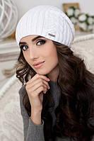 Женская вязаная шапка-колпак 9034