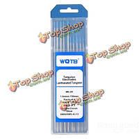 10шт/набор wl20 аргонодуговой сварки вольфрамовым электродом 1.6мм x150мм +2.4мм x175мм