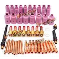 51шт TIG комплект & TIG сварочные материалы факел комплект принадлежностей