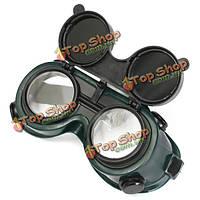 Изумленные взгляды сварки припоя steampunk промышленные очки с щелчком затемняют режущий размол