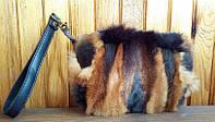 Сумка-кошелёк из натурального меха лисы с кожей, размер 20х12х4 см, фото 1