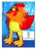 Мягкая игрушка петух символ 2017года желто красный
