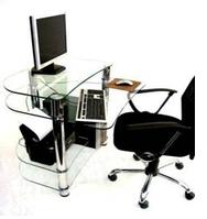 Офисный компьютерный стол из стекла Р-3 Эскадо