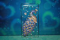 Чехол накладка со стразами для Samsung Galaxy A3 птица