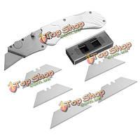 Утилита зажим для денег фиксированный нож складной нож с инструментом 5pcs лезвий