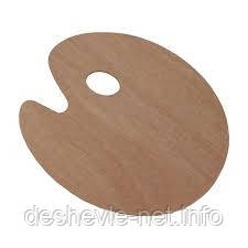 Палитра деревянная, овальная, 25х30см., (толщина 3мм.), D.K.ART & CRAFT