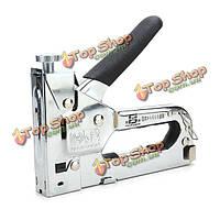 Сверхмощный быстрое обивка ручной инструмент ногтей степлер степлер для деревянной мебели двери с 800 гвоздей