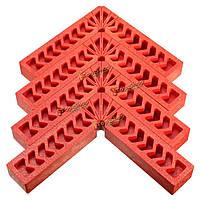 4шт 6-дюймов 150мм зажима квадратный высокой прочности конструкционный пластик