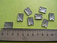 Стразы пришивные (прямоугольник) прозрачные белые