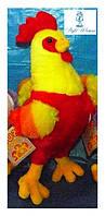 Мягкая музыкальная игрушка петух двухцветный
