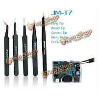 Jakemy JM-t7-13 инструменты для поделок обслуживание пинцет пинцет плоский конец электронные нержавеющей стали