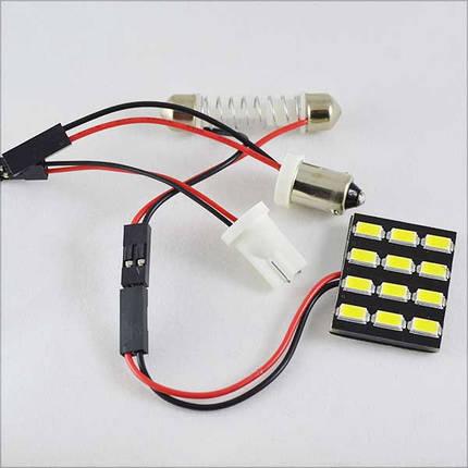 Светодиодный модуль (led панель) в подсветку автомобиля SL LED 12 led 5630 Белый, фото 2