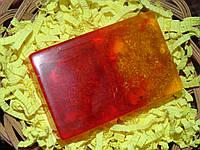Мыло прямоугоьное с люфой и эфирным маслом апельсина