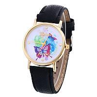 Красивые женские часы с бабочкой Geneva. Хорошее качество. Яркий дизайн. Кварцевые часы. Купить. Код: КДН749