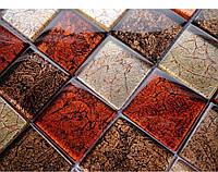 Мозаика стеклянная для кухонного фартука Vivacer Mix Red
