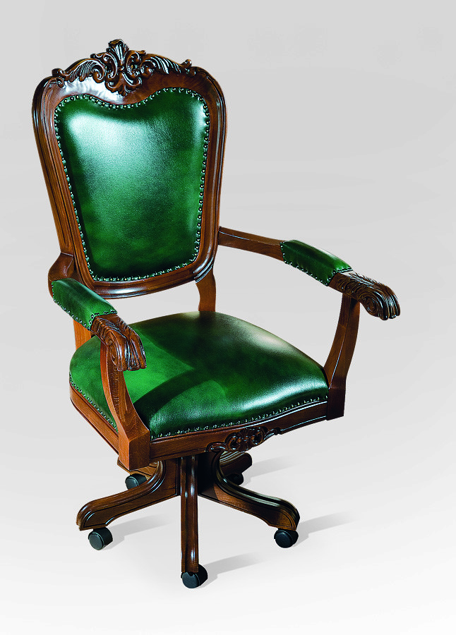 Вращат стілець з подлокот /шкіра/ Royal Simex