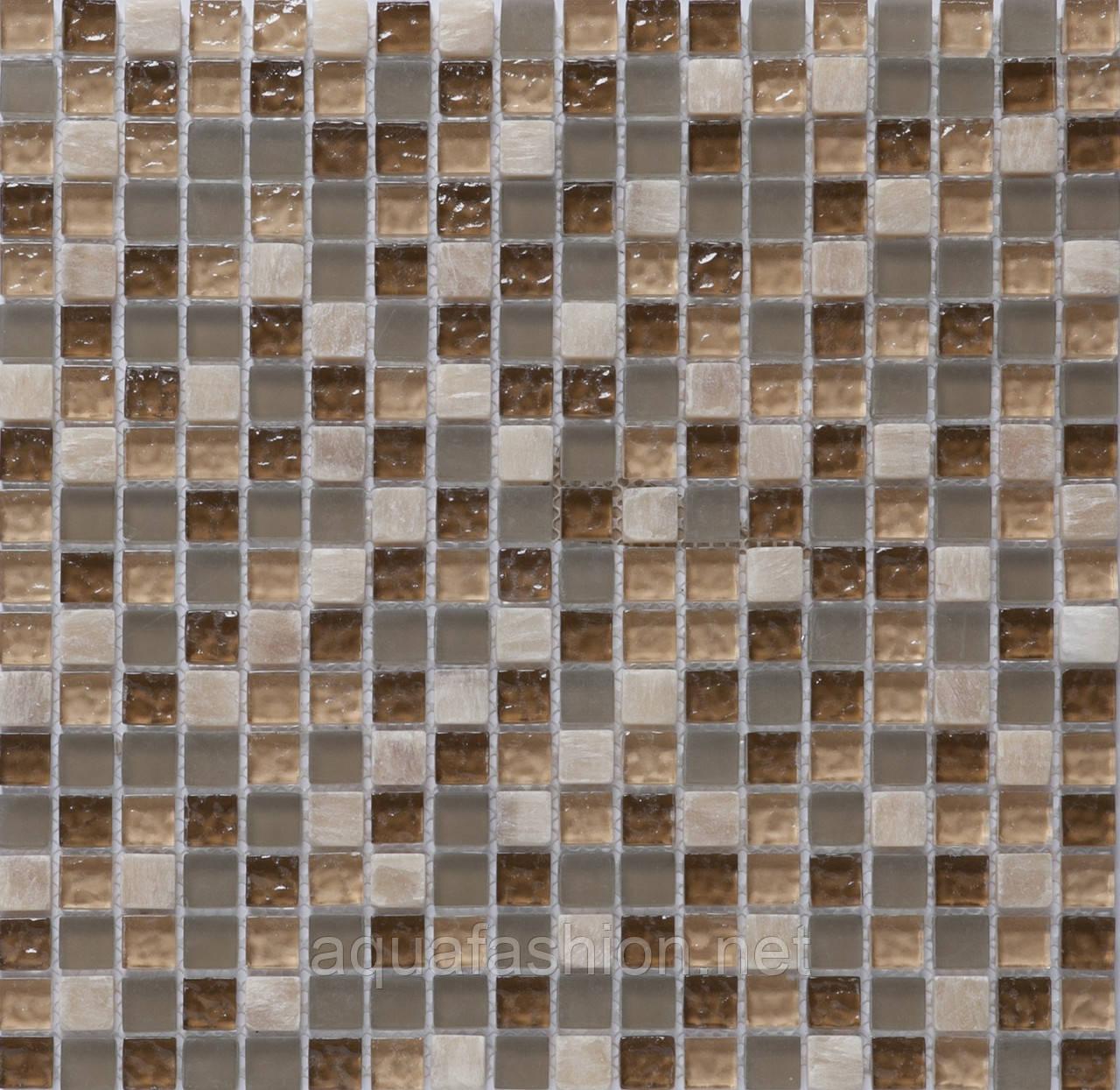 Мозаїка для кухонного фартуха мармур і скло Vivacer DAF1