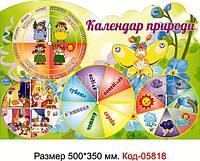 """Стенд пластиковий """"Календар природи"""" Код-05818"""
