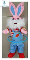 Механическая игрушка заяц крутит обруч 35см