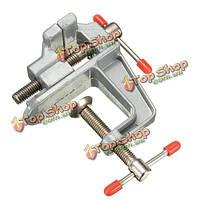 Алюминий миниатюрная маленький зажим на столе инструмента тисках