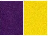 Набор фетр листовой_сиреневы, желтый 3,0 мм